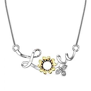 Candere Women's 0.43 CT Claudia Pearl Diamond Pendant In 925 Sterling Silver (Color I-J, Clarity SI, Brilliant Cut)