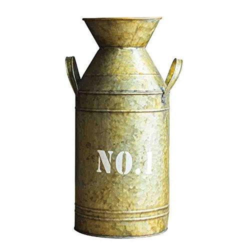 Watering Honey Galvanized Old Milk Can Country Rustic Primitive Jug Vase ~17.5 Inch 0