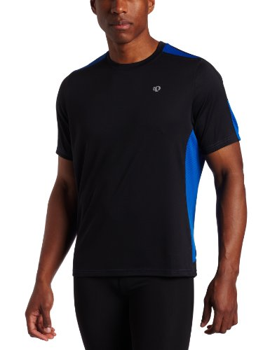 Pearl iZUMi Pearl Izumi Men's Phase Short Sleeve Shirt, Black/True Blue, X-Large