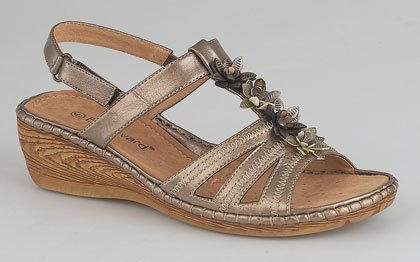 Ladies touch fastening Sling Back sandal BRONZE