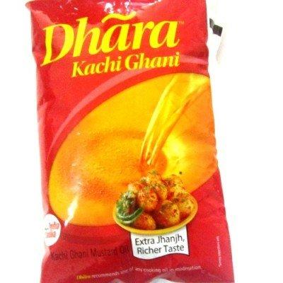 Dhara Mustard Oil - Kachi Ghani 1 Ltr