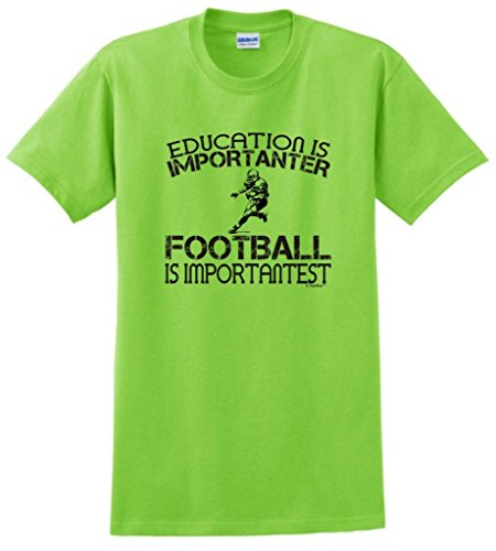 Football Is Important Funny T-Shirt Large Lime