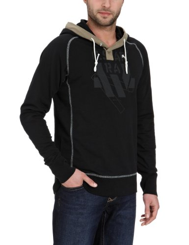 G-Star Men's Cm Hooded Sw L/S - 85501 Sweatshirt Black (Raven 976) 48/50
