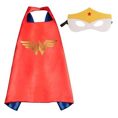 Athena DC Superheroes Adult Size - Wonder Woman Cape and Mask Gift Box Included
