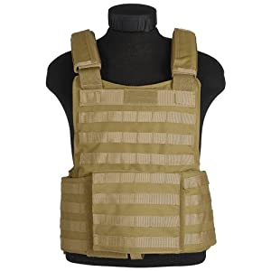 Modular Military Assault Padded Vest Tactical Combat MOLLE Carrier Coyote Tan