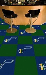 Fanmats Sports Team Logo Utah Jazz Carpet Tiles 18x18 tiles by Fanmats