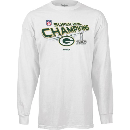 Reebok Green Bay Packers Super Bowl XLV Champions Youth (8-20) Long Sleeve Trophy T-Shirt from Reebok