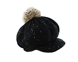 BONAMART ® Boy Baby Toddler Kid Child Girl Winter Knit RabbitHair Ball Cap Hat Beanie Black