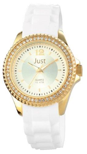 Just Watches donna-Orologio da polso al quarzo gomma 48-S3859-GD-WH
