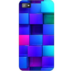 Casotec Blocks Rainbow 3D Graphics Design Hard Back Case Cover for Blackberry Z10