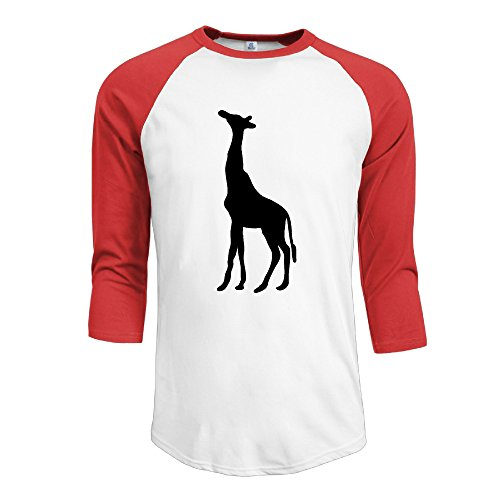 Jonesseller Men's Originals 3/4 Raglan Giraffe T Shirts Red S (S2000 Humidifier compare prices)