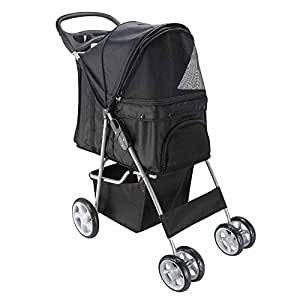 Oxgord Pet Stroller Cat/Dog Easy Walk Folding