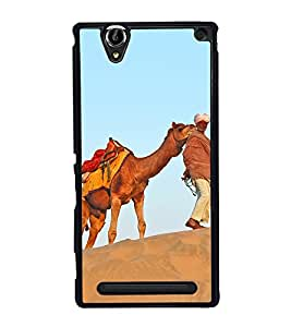Desert King 2D Hard Polycarbonate Designer Back Case Cover for Sony Xperia T2 Ultra :: Sony Xperia T2 Ultra Dual SIM D5322 :: Sony Xperia T2 Ultra XM50h