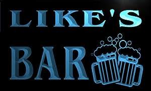 w021247-b LIKE Name Home Bar Pub Beer Mugs Cheers Neon Light Sign