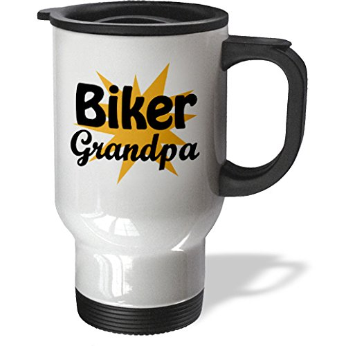 Evadane - Funny Quotes - Biker Grandpa, Orange, - Travel Mug - 14Oz Stainless Steel Travel Mug (Tm_193295_1)