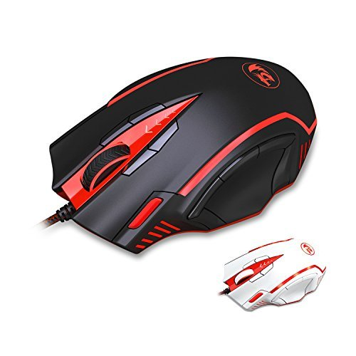 Redragon Samsara M902 16400 DPI High Precision Programmable Laser Gaming Mouse for PC, FPS, 13 Programmable Buttons, Weight Tuning Cartridge, 5 Programmable Side Buttons, 5 Programmable User Profiles, Omron Micro Switches (BLACK)