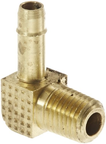 "Eaton Weatherhead 1069X4X1 Brass Ca360 Mini-Barb Brass Fitting, 90 Degree Elbow, 1/4"" Tube Od X 1/16"" Npt Male front-474127"