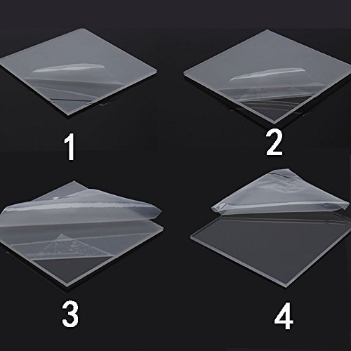 Display4top Floating Shelves Acrylic Glass Shelf Kit Satin Nickel 6x17 Inch, 2 PACK