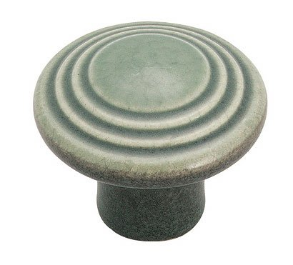 Amerock BP1325-DG Colour Washed Ceramics Knob, Colour Washed, Distressed Green