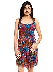 Multicolor Color Printed Dress