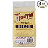 Bobs Red Mill Low Fat Soy Flour, 20 Ounce -- 4 per case.