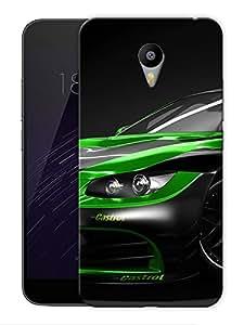 "Sport Car Craze Green Black Printed Designer Mobile Back Cover For ""Google Infocus M2 Note"" By Humor Gang (3D, Matte Finish, Premium Quality, Protective Snap On Slim Hard Phone Case, Multi Color)"