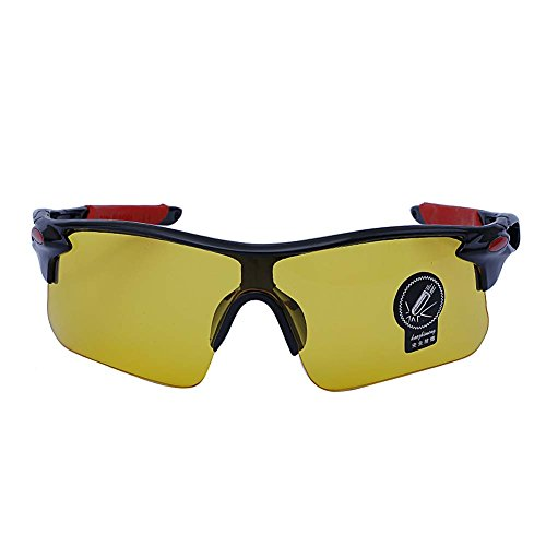 Outdoor Sports Athlete's Sunglasses UV protection (Black Frame, Yellow Lens) (Plastic Lense Scratch Remover compare prices)