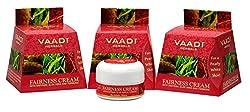 Vaadi Herbals Fairness Cream, Saffron Aloe Vera and Turmeric Extracts, 30gms x 3