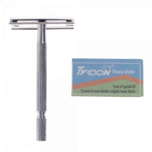 Tycoon Jh-548Iii Zinc Alloy Men'S Manual Safe Razor Shaver Silver By Preciastore