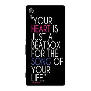 AJAYENTERPRISES Your Is Heart Back Case Cover for Xperia Z3 Plus