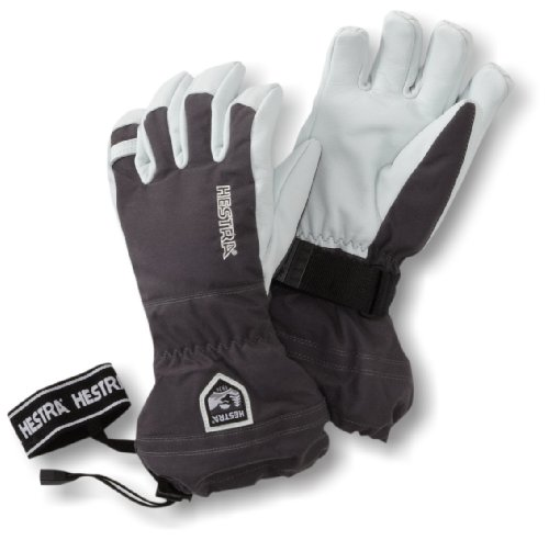 Hestra Army Leather Heli Ski Gloves Grey 10 (X-Large), Grey