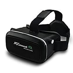 NGConnext VR-35 3D Virtual Reality Glasses/Headset with HD Optical Resin Lenses for Android and IOS Smartphones (Black) - Inspired by Google Cardboard and Oculus Rift [BEST SELLING]