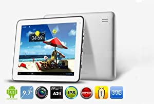"""Generic Nextway F9x 9.7"""" Android 4.1.1 Quad-core A31 3.3ghz 16gb Tablet Pc with External 3g, Auto Screenshot, Pip, Capacitive Retina Display IPS Touch 2048x1536 (Black)"""