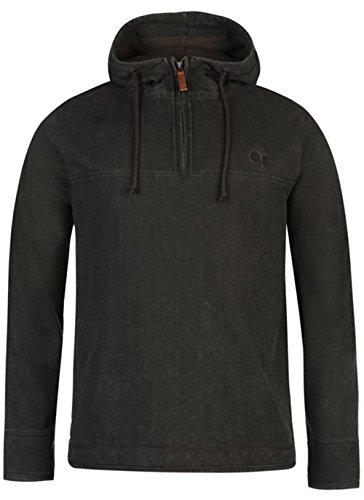 mens-quarter-zip-pique-hooded-sweater-top-large-charcoal