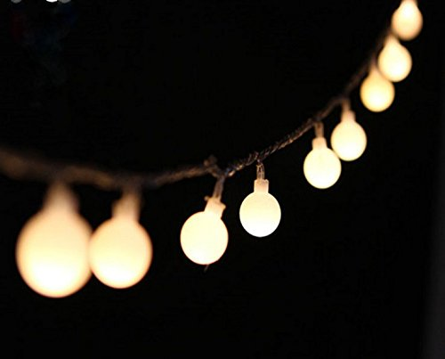 PeaceJoy 100 LED Globe Light Strings Indoor Outdoor Decoration String Lights (10M, Warm White) (Led Globe String Lights compare prices)