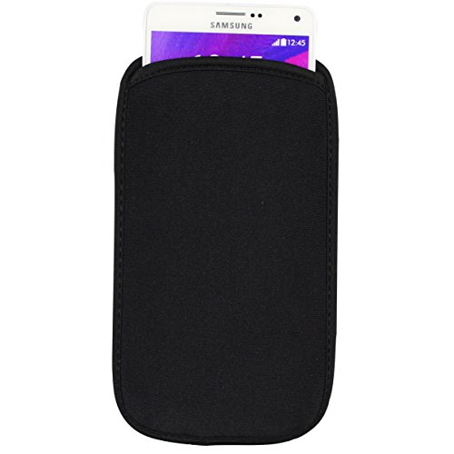 SumacLife 6.3-inch Universal Neoprene Cellphone Pouch Case for HTC Hima Ace Plus / HTC Desire 816 / Samsung Galaxy Note 4 (black) (Htc Hima Ace Plus Case compare prices)
