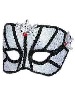 White Sequin Eye Mask Masquerade Mask Face Mask Theatre Costumes Accessory
