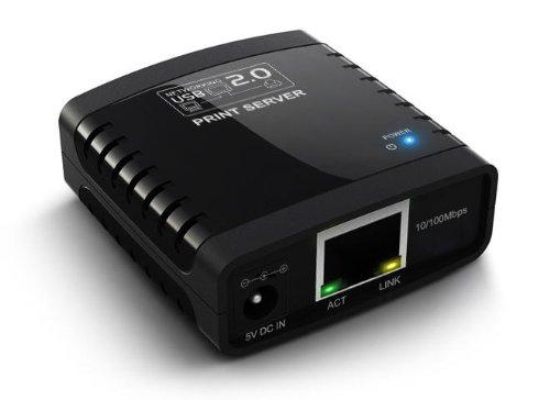 Arkview Usb 2.0 10/100 Ethernet Usb 2.0 Print Server (1 Port) Pc/Mac