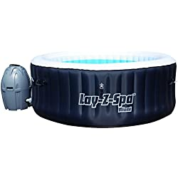 Lay-Z-Spa Miami Inflatable Hot Tub Spa - Black