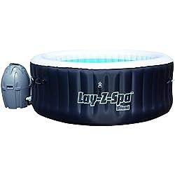 layzspa miami inflatable hot tub spa black 180 x 65