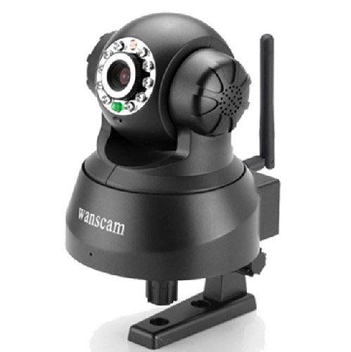 Wanscam Network Webcam Wireless Wifi Ip Camera Cctv Infrared Pan Tilt Video Audio Security Cam Black