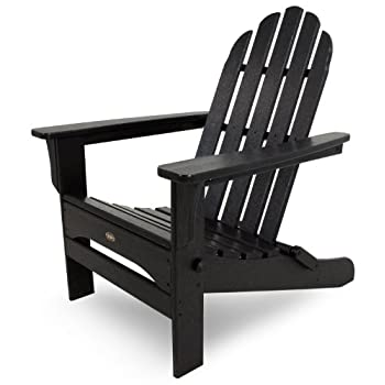 Trex Outdoor Furniture Cape Cod Folding Adirondack Chair, Charcoal Black