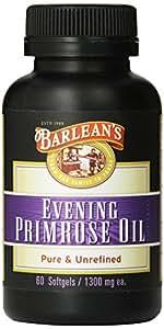 Barlean's Organic Oils Organic Evening Primrose Oil Softgels, 60-Count Bottle