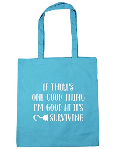 hippowarehouse-if-theres-one-good-thing-im-good-at-its-surviving-tote-shopping-gym-beach-bag-42cm-x3