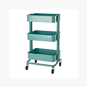 RASKOG Home Kitchen Bedroom Storage Utility Cart Turquoise Home