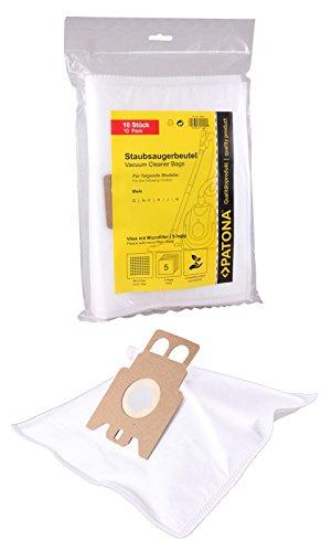10 Staubsaugerbeutel alternativ zu Miele GN HyClean 3D - 9917730 oder Swirl M40 und M50 --- Material: Vlies 5-lagig --- 10er Packung inkl. 1 Mikrofilter