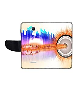 KolorEdge Printed Flip Cover For CoolPad Dazen Note 3 Multicolor - (1479-55KeMLogo12426DazenNote3)