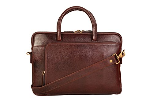 SCHARF Brown Genuine Leather Office Laptop/Macbook Messenger Bag