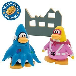 "Buy Low Price Jakks Pacific Disney Club Penguin 2"" Mix 'N Match Figure Pack – Gamma Gal and Squidzoid (B002WZ2KSQ)"