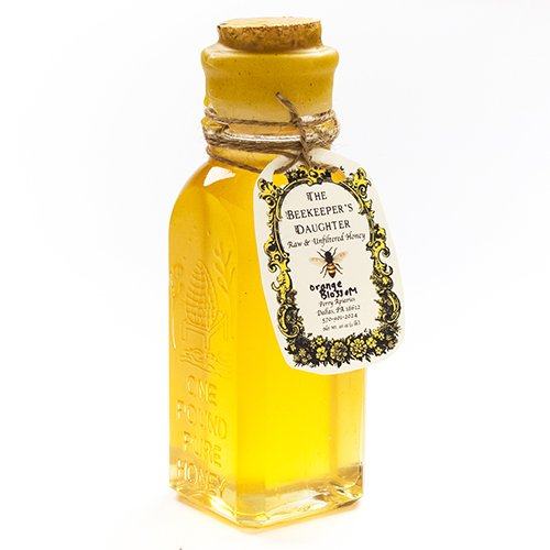 Raw Orange Blossom Honey By Beekeeper'S Daughter In Gift Bottle (1 Pound)